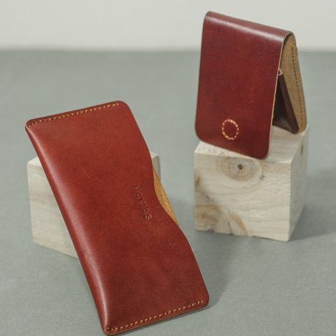 Couple Ví  Opmo & Gerbera Handcrafted Wallet Red