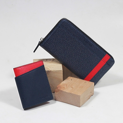 Couple Ví The Viva & Seashell Wallet Navy
