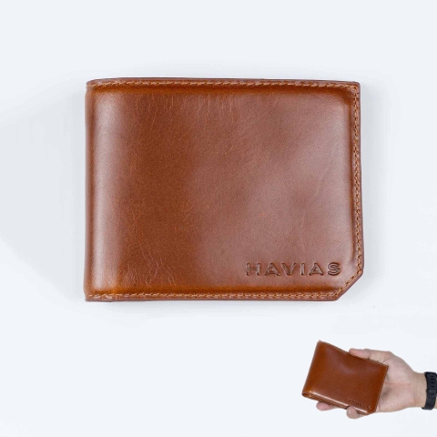 Ví Da Maple Bifold Wallet Brown