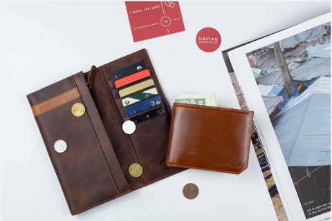 Couple Ví The Heyday Long & The Maple Bifold Wallet Brown