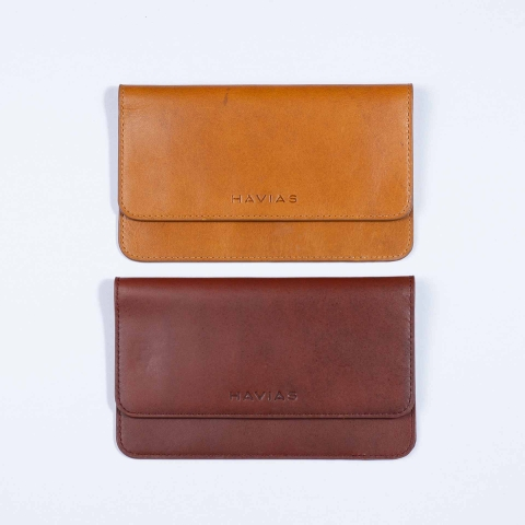 Couple The Momo Wallet Brown & Caramel Brown