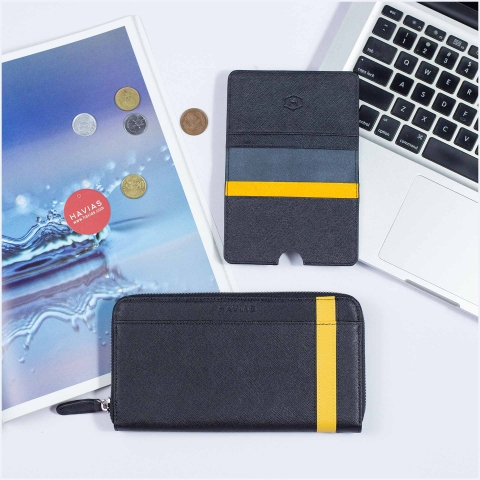 Couple Ví The Viva Zipped Long & Harp Mini Wallet Black