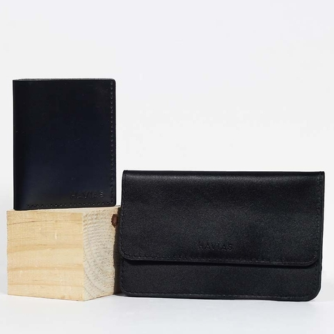 Couple Ví The Momo & Venumi Wallet Black