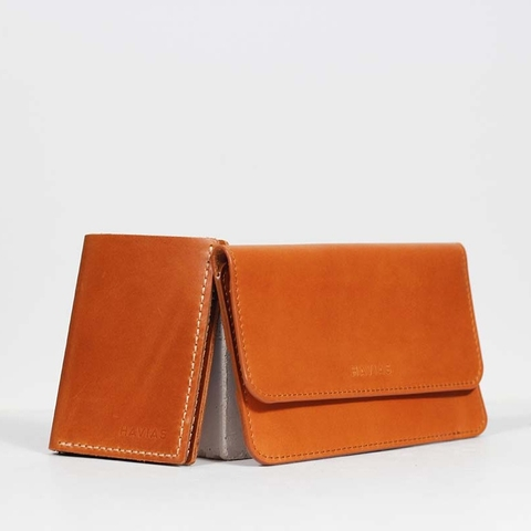 Couple Ví The Momo & Venumi Wallet Yellow Brown