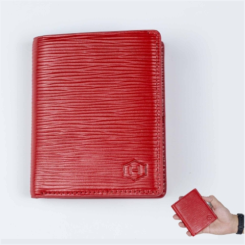 Ví Da EPI Rosy Luck Wallet Red