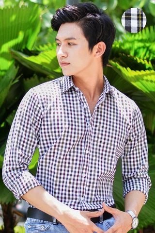 Premium Fabric Color Cross Hidden Button Down Shirt