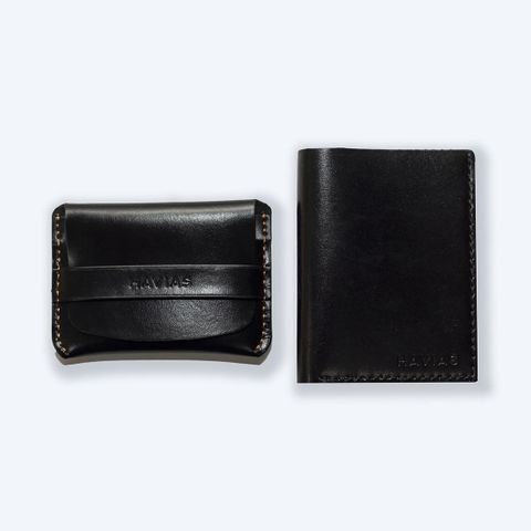 Couple Ví Smile & Venumi Wallet Black