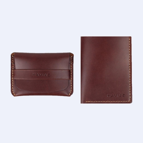 Couple Ví Smile & Venumi Wallet Red Brown