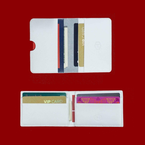 Couple Ví Harp Mini & Rosy Luck Card Wallet White