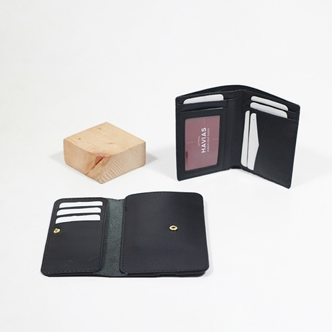 Couple Ví The Momo & Verzip Wallet Black