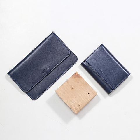 Couple Ví The Momo2 & Heart3 Wallet Xanh Navy