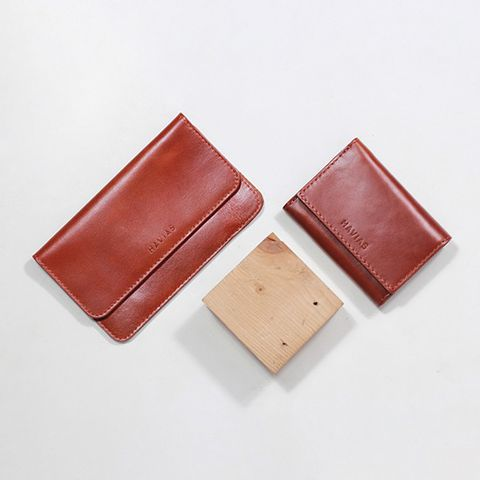 Couple Ví The Momo2 & Heart3 Wallet Brown