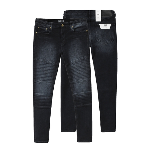 SP211 - Quần Jeans Biker Black Wash