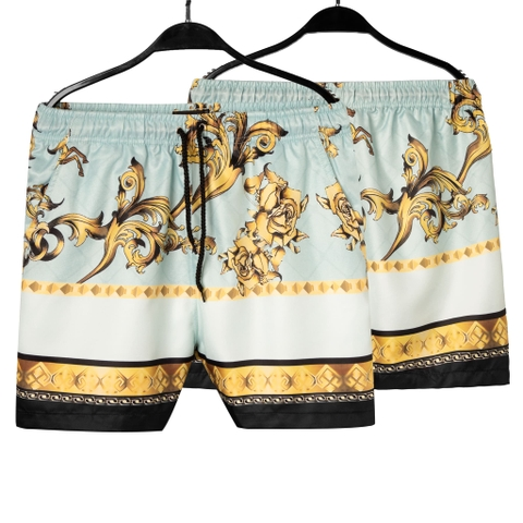 SP166 - Quần Short Blue & Horse Gold