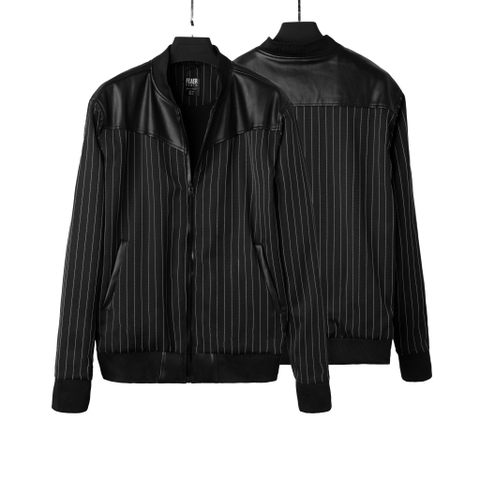 SP173 - Áo Khoác Leather Mixed Jacket