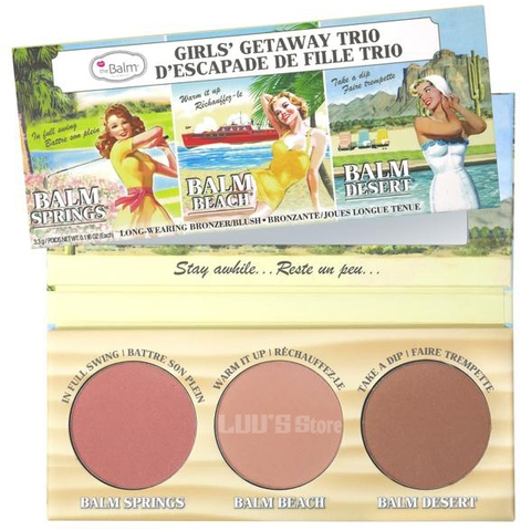 Má hồng The Balm Girls Getaway Trio