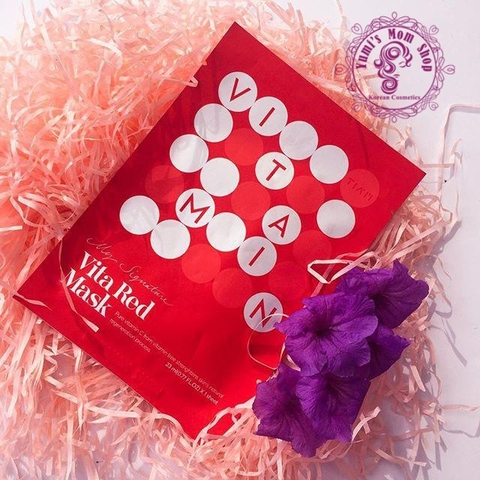 Mặt Nạ Vitamin C Tiam My Signature Vita Red Mask
