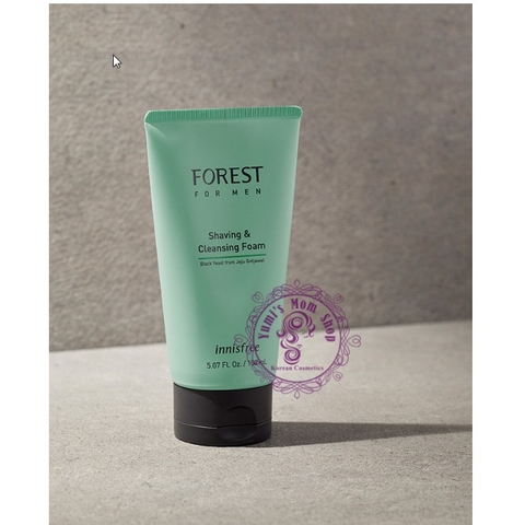 Mẫu mới 2019 Sữa rữa mặt nam Innisfree Forest for Men Shaving & Cleansing Foam