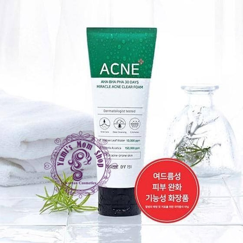 Sữa Rửa Mặt Some By Mi AHA-BHA-PHA 30 Days Miracel Acne Clear Foam
