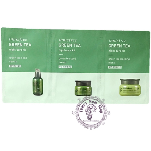 Set 3 sample dưỡng da ban đêm Innisfree Green Tea Night-Care Kit