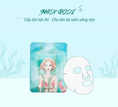 Mặt Nạ Cỏ Biển SeoulRose Rosa Hydrating Seagrass mask