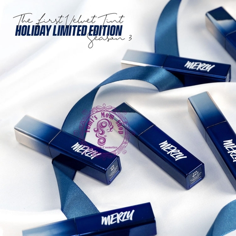 Son Merzy Velvet Tint Season 3 Blue Holiday Limited Edition