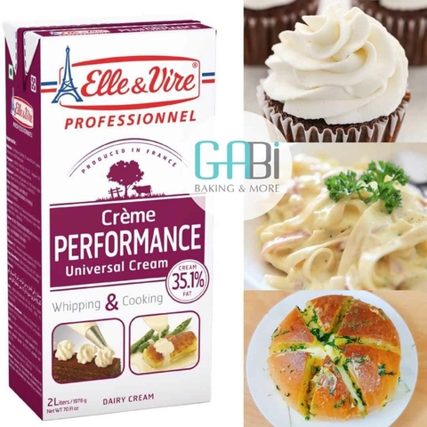 Whipping Cream Elle & Vire 1l