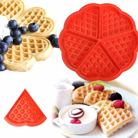 Khuôn waffle silicon 5 miếng tam giác