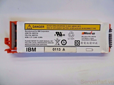 10016 Pin Battery IBM 3.7v 2.4Ah Pseries 00E5724 00E5725