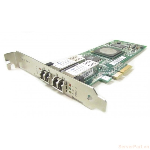 10467 Card HBA FC IBM QLogic QLE2462 4Gb 2 port FC SFP fru 39R6528 pn 39R6593 opt 39R6527