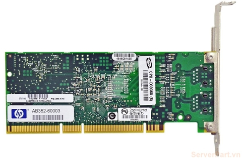 10675 Card nic pci-x HP 1Gb 2 port RJ45 AB352-60003