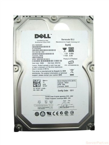 11558 Ổ cứng HDD sata Dell 750gb 7.2k 3.5