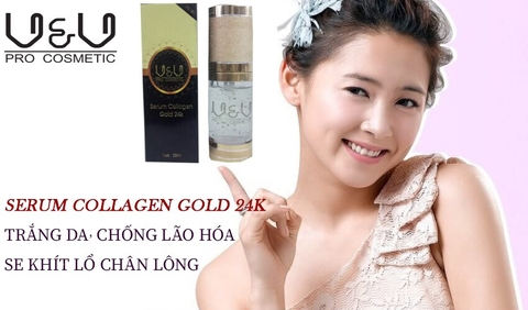 Serum collagen gold 24k v&v pro comestic