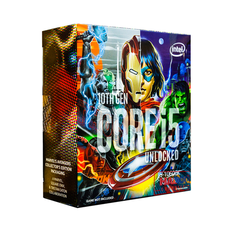 CPU Intel Core i5-10600K Avengers Edition (4.1GHz turbo up to 4.8GHz, 6 nhân 12 luồng, 12MB Cache, 125W) - Socket Intel LGA 1200