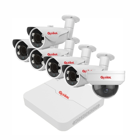 Trọn bộ Camera IP Global 2.0Mpx Full HD 1080P - 06 camera