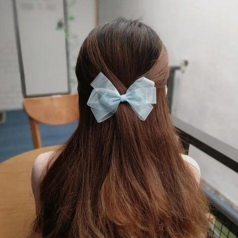 Kẹp tóc đuôi ngắn màu mint Hati