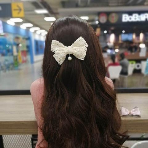 Kẹp tóc đuôi ngắn màu trắng Hati