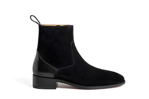 Zipped Leather Heel Chelsea Boots