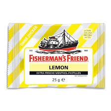 Kẹo bạc hà Fisherman's Friend Pastillen, lemon, Zitrone, zuckerfrei, 25g