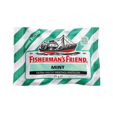 Kẹo bạc hà Fisherman's Friend Pastillen, mint, Minze, zuckerfrei, 25g