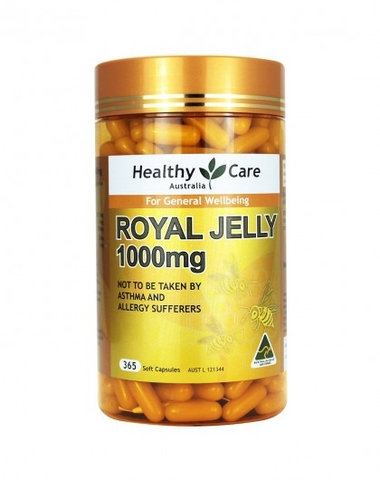 Sữa ong chúa Healthy Care Royal Jelly 1000MG, 365v