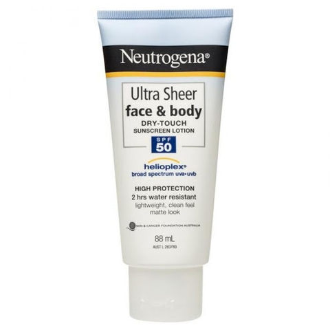 KCN Neutrogena Ultra Sheer Face Body 50SPF, 85ml