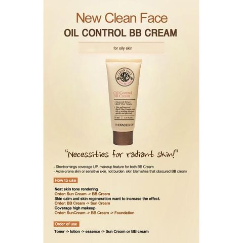 BB Cream kiềm dầu The Faceshop 35ml
