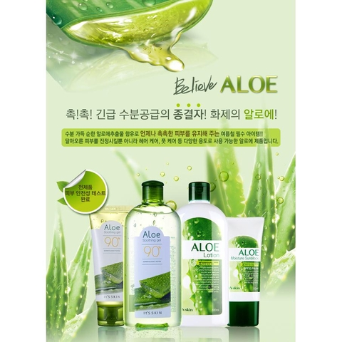 Gel lô hội Aloe Soothing Gel 90% It's skin 320ml