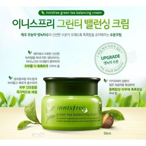 Kem dưỡng Innisfree Green Tea Balancing Cream