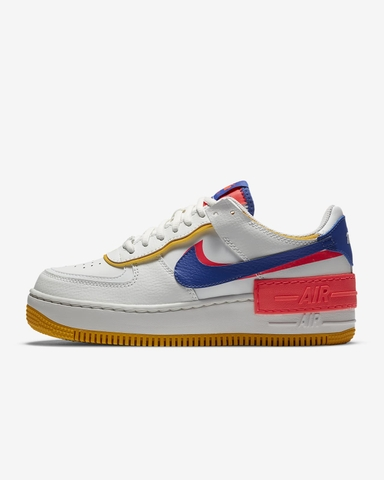 HÀNG CHÍNH HÃNG NIKE AIR FORCE 1 SHADOW WHITE/ BLUE/FLASH CRIMSON 2020
