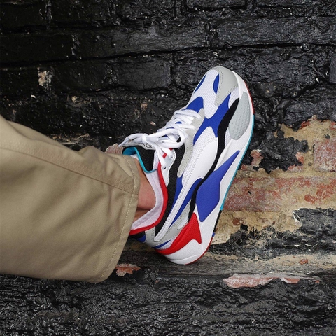 PUMA RS-X3 PUZZLE WHITE/BLUE/BLACK