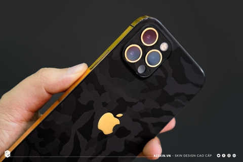 Skin Camo Đen Mix Gold 18K