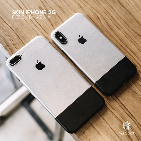 Dán Skin 2G IPhone Pro | IPhone Pro Max | IPhone 2G Xám Đen