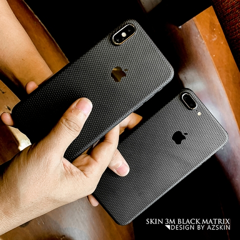 Skin 3M Matrix Black IPhone 7 Plus/ 8 Plus (MX12)